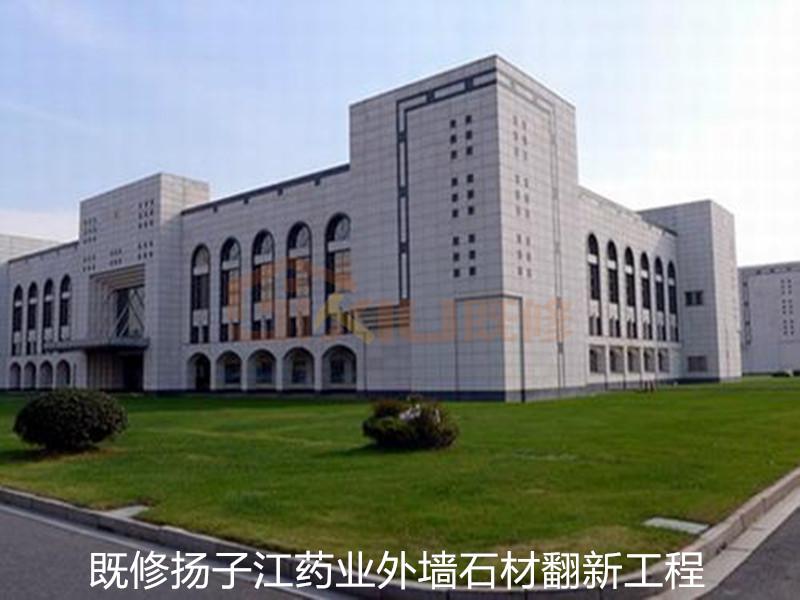 扬子江药业外墙石材翻新工程
